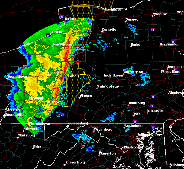 Radar Image for Severe Thunderstorms near Wilcox, PA at 5/1/2017 4:11 PM EDT