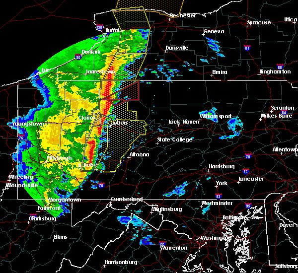 Radar Image for Severe Thunderstorms near Kane, PA at 5/1/2017 4:11 PM EDT