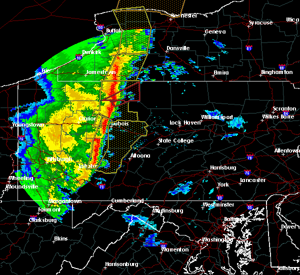 Radar Image for Severe Thunderstorms near Brookville, PA at 5/1/2017 4:14 PM EDT