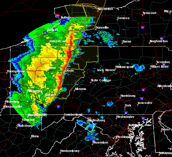 Radar Image for Severe Thunderstorms near Shinglehouse, PA at 5/1/2017 4:25 PM EDT