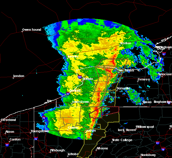 Radar Image for Severe Thunderstorms near Houghton, NY at 5/1/2017 4:37 PM EDT