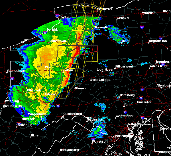 Radar Image for Severe Thunderstorms near Shinglehouse, PA at 5/1/2017 4:41 PM EDT