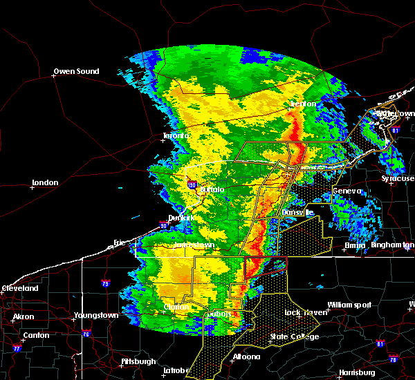 Radar Image for Severe Thunderstorms near Shortsville, NY at 5/1/2017 4:58 PM EDT