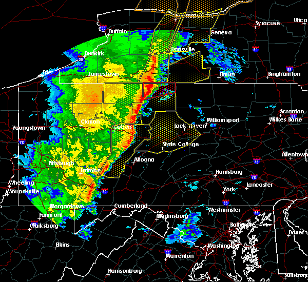 Radar Image for Severe Thunderstorms near Julian, PA at 5/1/2017 4:58 PM EDT