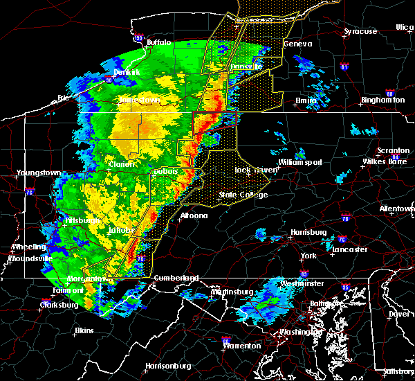 Radar Image for Severe Thunderstorms near Rockwood, PA at 5/1/2017 5:04 PM EDT