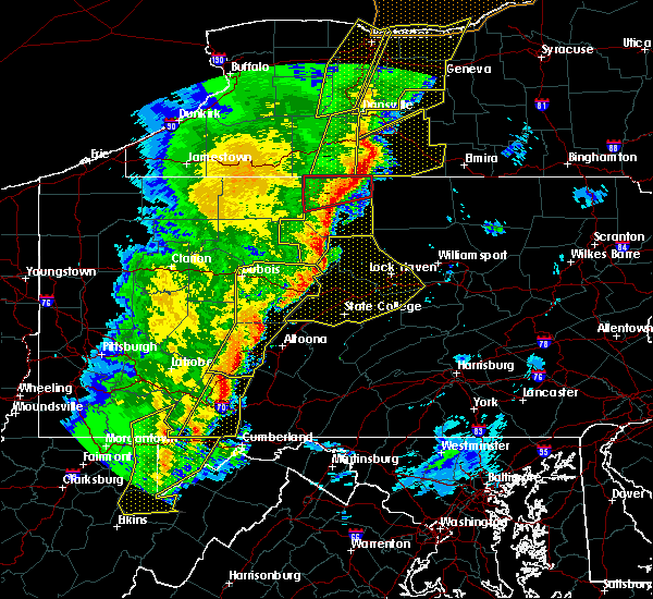 Radar Image for Severe Thunderstorms near Dunlo, PA at 5/1/2017 5:17 PM EDT