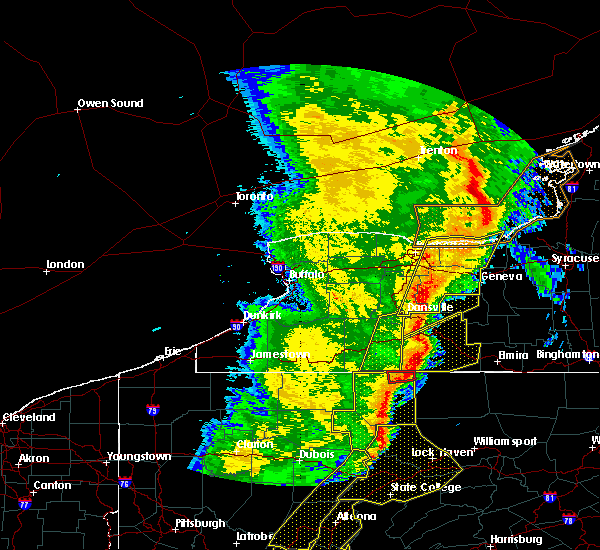 Radar Image for Severe Thunderstorms near Shortsville, NY at 5/1/2017 5:24 PM EDT