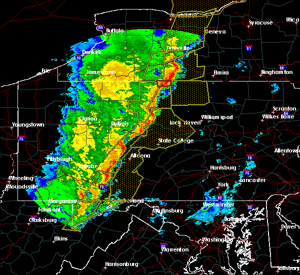 Radar Image for Severe Thunderstorms near Roseville, PA at 5/1/2017 5:28 PM EDT