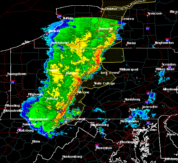 Radar Image for Severe Thunderstorms near Hawk Run, PA at 5/1/2017 5:40 PM EDT