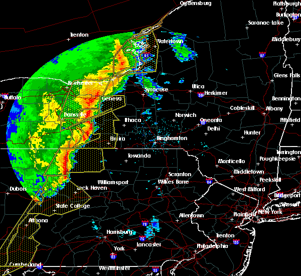 Radar Image for Severe Thunderstorms near Auburn, NY at 5/1/2017 5:46 PM EDT