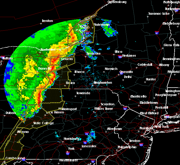 Radar Image for Severe Thunderstorms near Savannah, NY at 5/1/2017 5:49 PM EDT