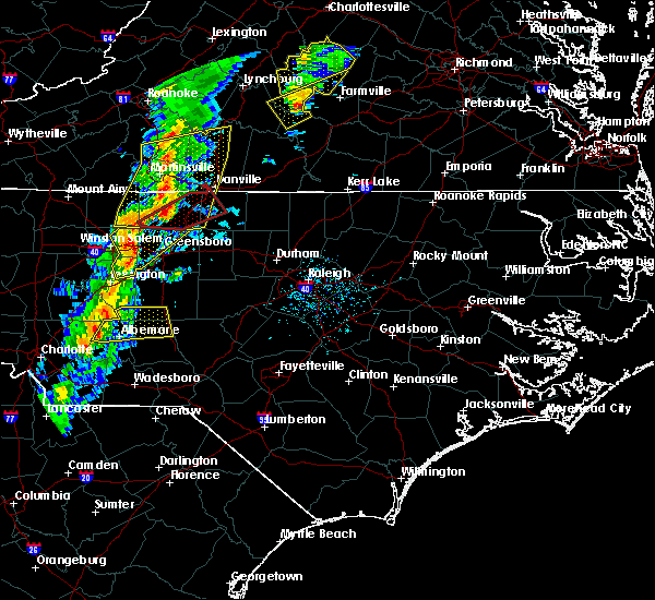 Radar Image for Severe Thunderstorms near Misenheimer, NC at 5/1/2017 6:11 PM EDT