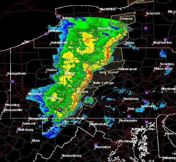 Radar Image for Severe Thunderstorms near Cassville, PA at 5/1/2017 6:11 PM EDT
