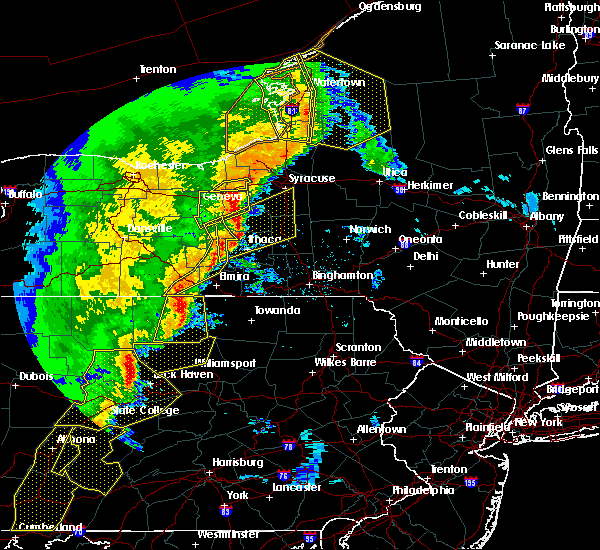 Radar Image for Severe Thunderstorms near Cortland West, NY at 5/1/2017 6:24 PM EDT