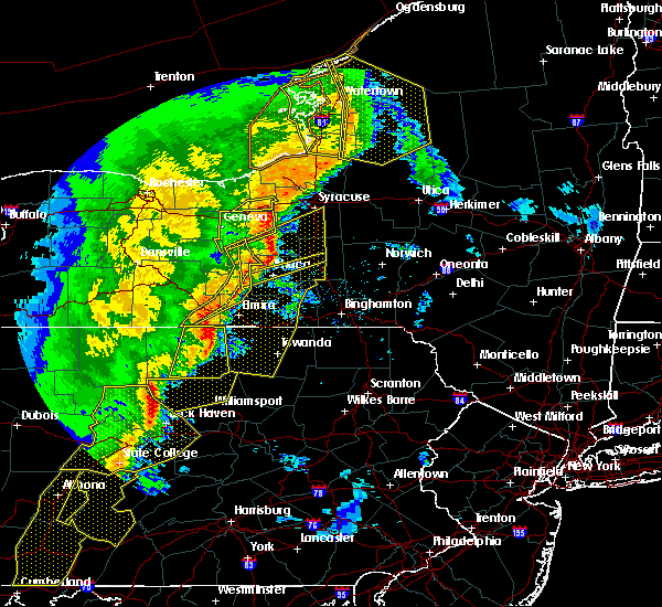Radar Image for Severe Thunderstorms near West Elmira, NY at 5/1/2017 6:27 PM EDT