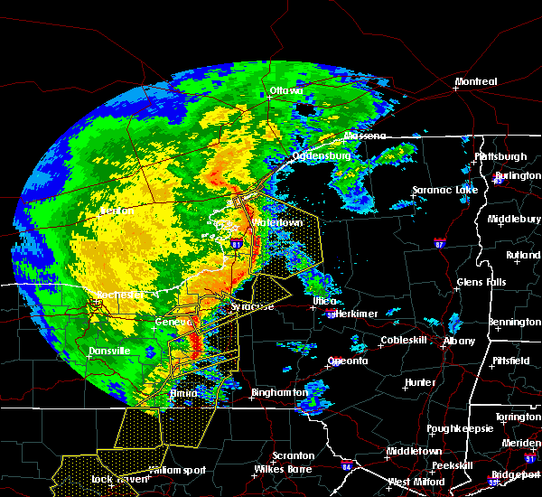 Radar Image for Severe Thunderstorms near Auburn, NY at 5/1/2017 6:34 PM EDT
