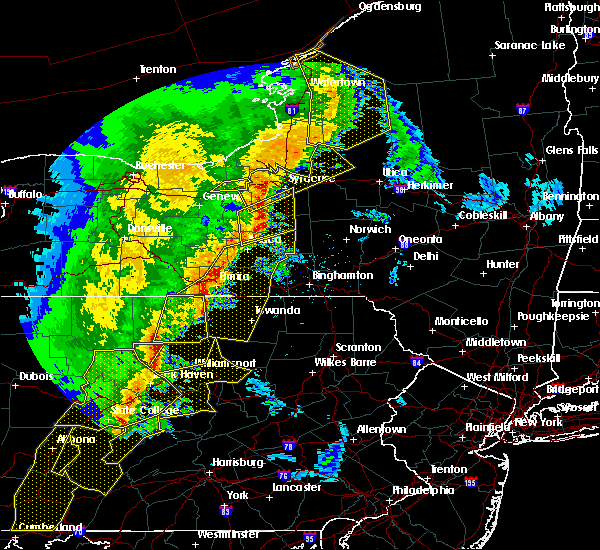 Radar Image for Severe Thunderstorms near Cortland West, NY at 5/1/2017 6:41 PM EDT