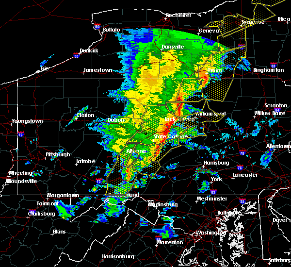 Radar Image for Severe Thunderstorms near Salladasburg, PA at 5/1/2017 6:41 PM EDT