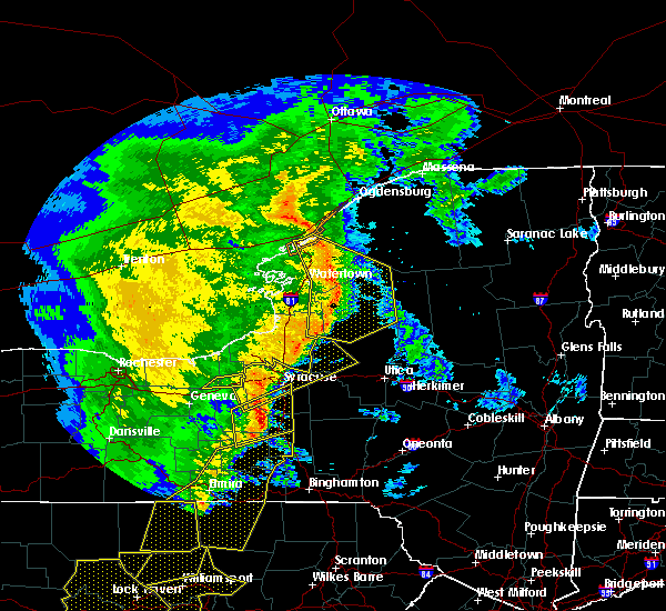 Radar Image for Severe Thunderstorms near Weedsport, NY at 5/1/2017 6:44 PM EDT