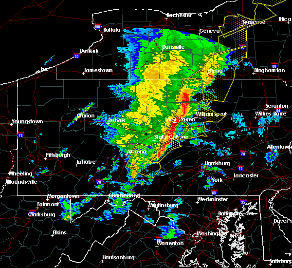 Radar Image for Severe Thunderstorms near Woodward, PA at 5/1/2017 6:47 PM EDT