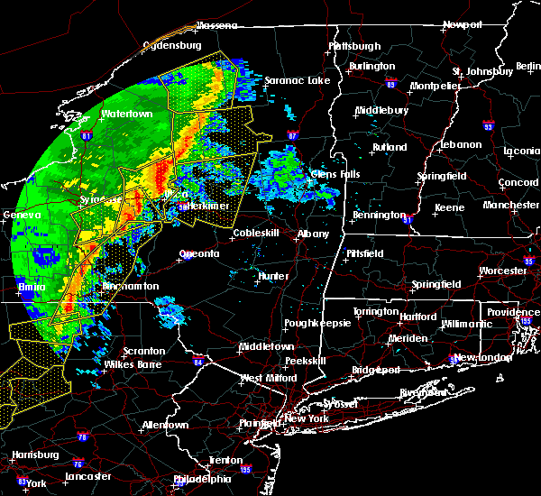 Radar Image for Severe Thunderstorms near Frankfort, NY at 5/1/2017 7:44 PM EDT