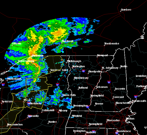 Radar Image for Severe Thunderstorms near Paul Smiths, NY at 5/1/2017 7:47 PM EDT