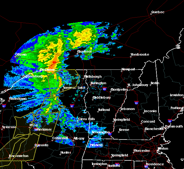 Radar Image for Severe Thunderstorms near Au Sable Forks, NY at 5/1/2017 8:09 PM EDT