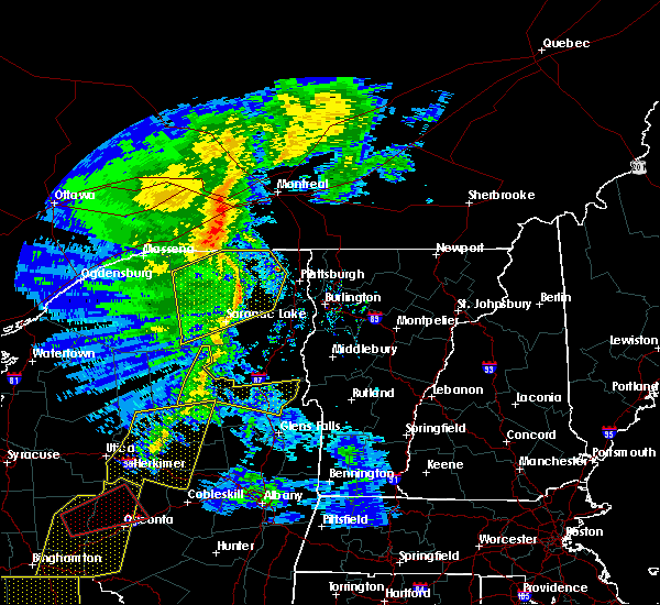 Radar Image for Severe Thunderstorms near Paul Smiths, NY at 5/1/2017 8:25 PM EDT