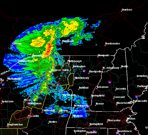 Radar Image for Severe Thunderstorms near Wilmington, NY at 5/1/2017 8:25 PM EDT