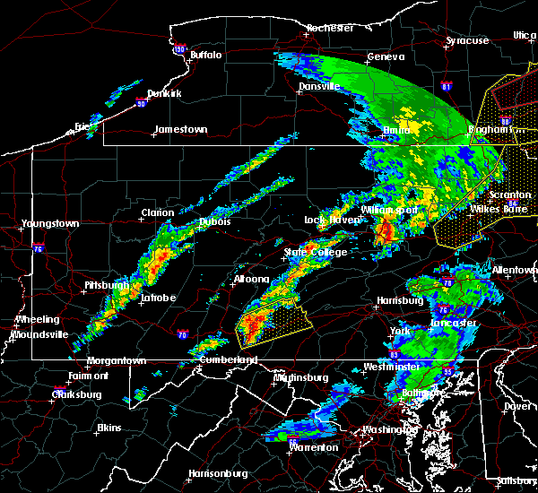 Radar Image for Severe Thunderstorms near Orrstown, PA at 5/1/2017 8:34 PM EDT