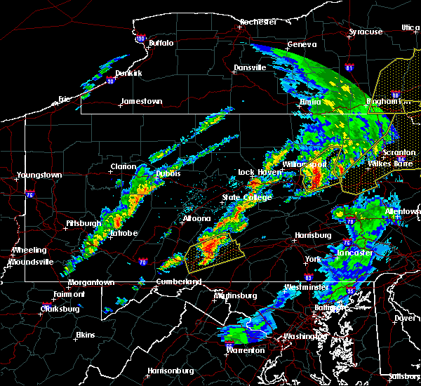 Radar Image for Severe Thunderstorms near Orrstown, PA at 5/1/2017 8:49 PM EDT