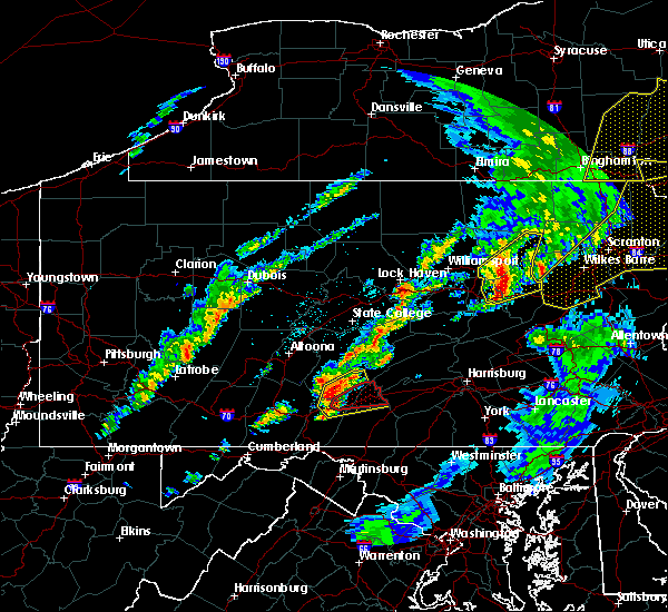 Radar Image for Severe Thunderstorms near Shade Gap, PA at 5/1/2017 8:52 PM EDT
