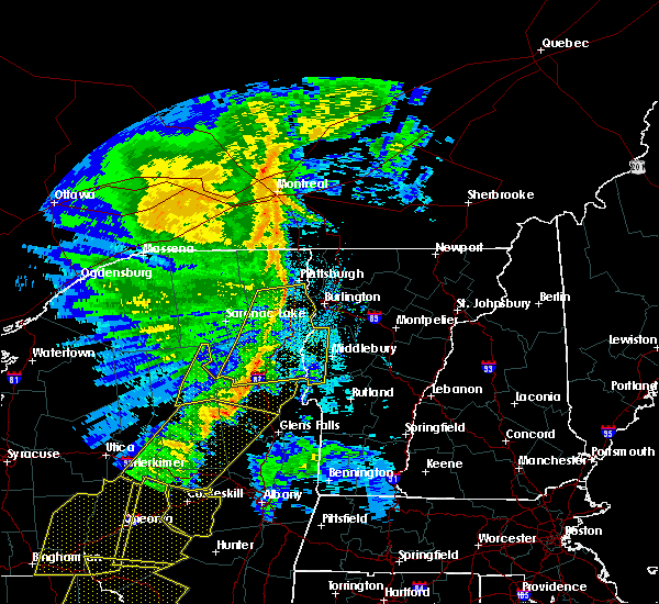 Radar Image for Severe Thunderstorms near Wilmington, NY at 5/1/2017 8:55 PM EDT