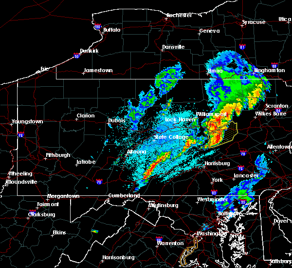 Radar Image for Severe Thunderstorms near New Columbus, PA at 5/1/2017 10:27 PM EDT