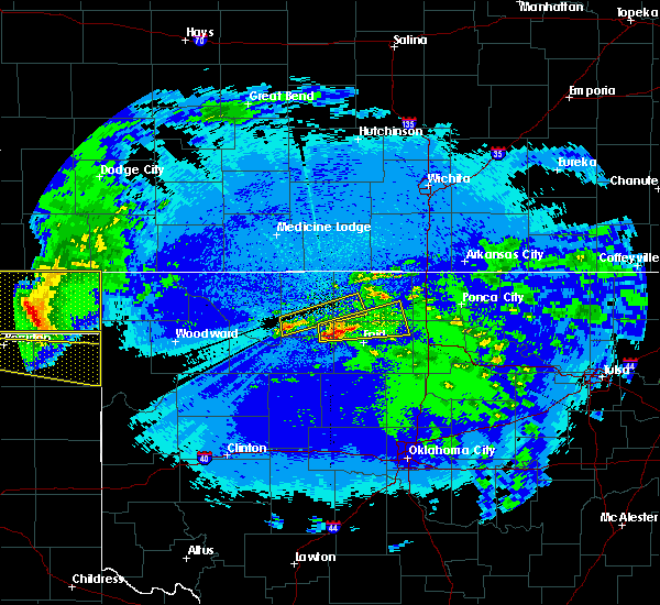 Radar Image for Severe Thunderstorms near Jet, OK at 5/2/2017 10:24 PM CDT
