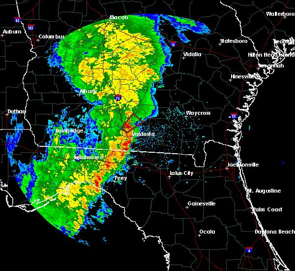 Radar Image for Severe Thunderstorms near Nashville, GA at 5/4/2017 12:25 PM EDT
