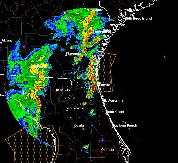 Radar Image for Severe Thunderstorms near Jacksonville, FL at 5/4/2017 4:35 PM EDT