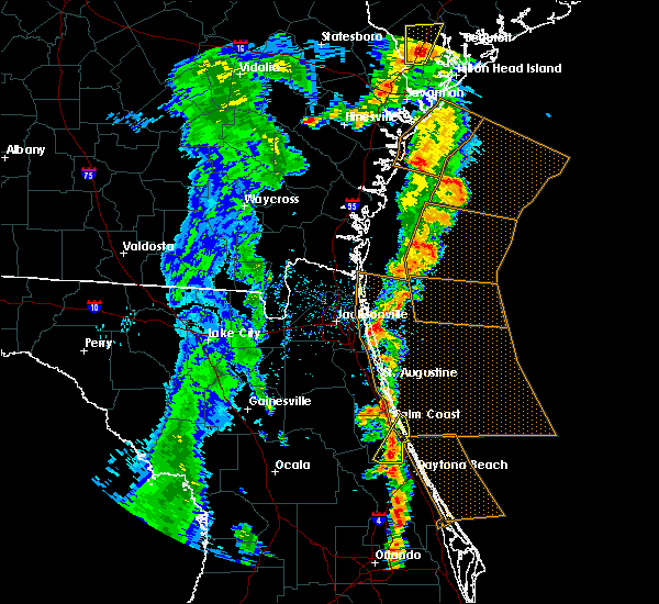 Radar Image for Severe Thunderstorms near Bunnell, FL at 5/4/2017 6:39 PM EDT