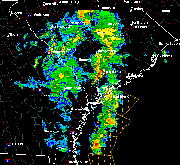 Radar Image for Severe Thunderstorms near Walterboro, SC at 5/4/2017 7:56 PM EDT