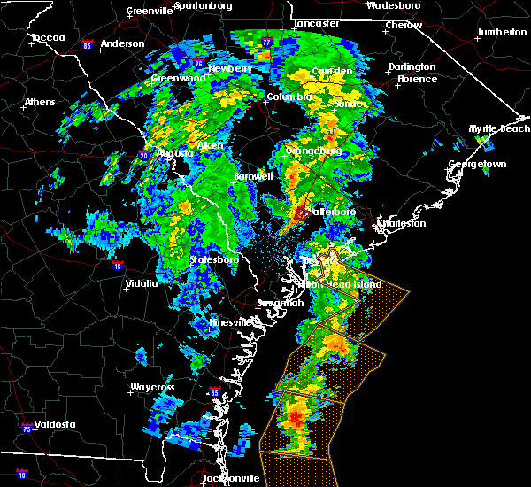 Radar Image for Severe Thunderstorms near Walterboro, SC at 5/4/2017 8:11 PM EDT