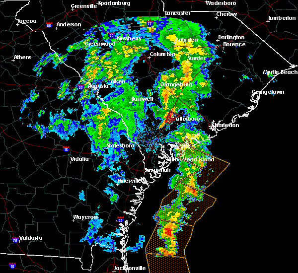 Radar Image for Severe Thunderstorms near Walterboro, SC at 5/4/2017 8:17 PM EDT