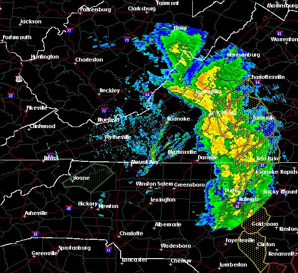 Radar Image for Severe Thunderstorms near Charlotte Court House, VA at 5/5/2017 5:33 AM EDT