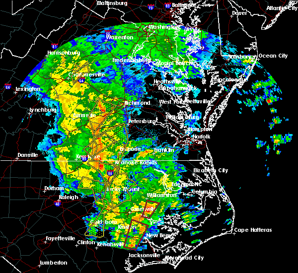 Radar Image for Severe Thunderstorms near Halifax, NC at 5/5/2017 6:41 AM EDT