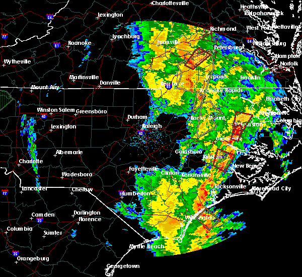 Radar Image for Severe Thunderstorms near Halifax, NC at 5/5/2017 6:57 AM EDT