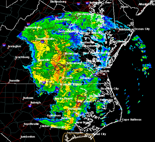 Radar Image for Severe Thunderstorms near McKenney, VA at 5/5/2017 7:03 AM EDT