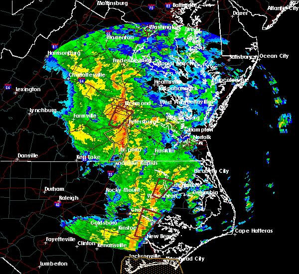 Radar Image for Severe Thunderstorms near McKenney, VA at 5/5/2017 7:18 AM EDT