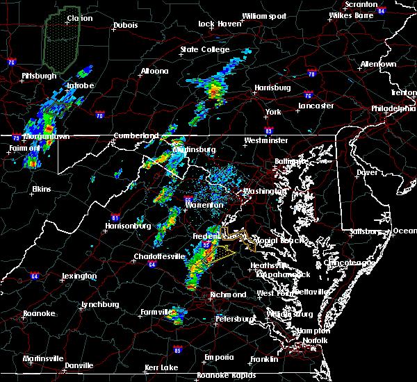 Radar Image for Severe Thunderstorms near Port Royal, VA at 5/5/2017 6:48 PM EDT