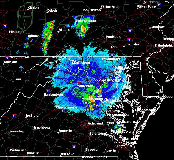 Radar Image for Severe Thunderstorms near Port Royal, VA at 5/5/2017 9:30 PM EDT