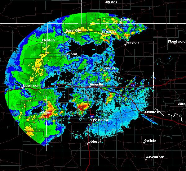 Radar Image for Severe Thunderstorms near Hart, TX at 5/10/2017 1:40 AM CDT