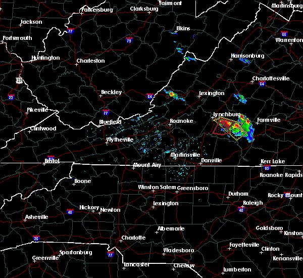 Radar Image for Severe Thunderstorms near Rustburg, VA at 5/10/2017 8:09 PM EDT